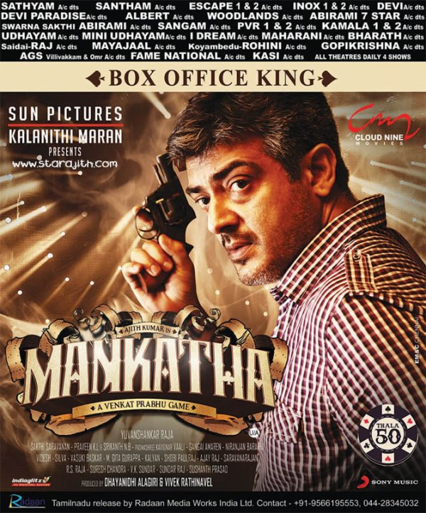 "Sep 2 : ""Box Office King"" Mankatha Paper"