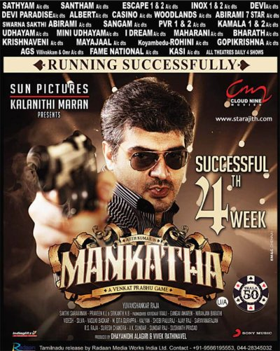 "Mankatha Video Songs Special + Sep 21 : ""Successful 4th Week"" Mankatha"
