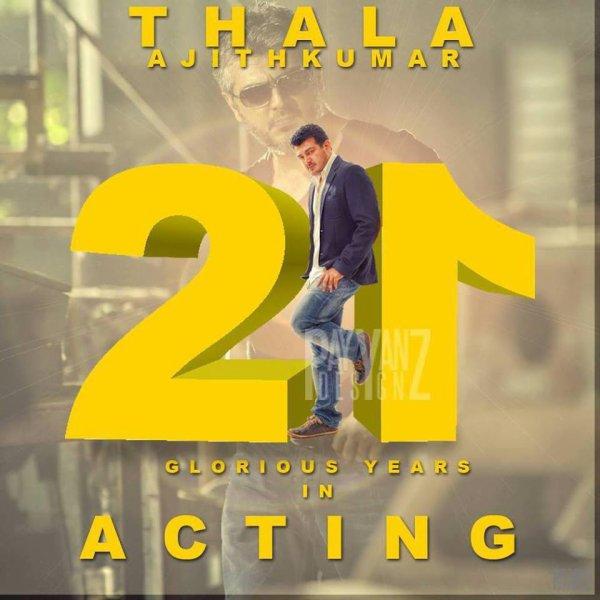 Ajith 21 ans dans le cinéma Indien !!