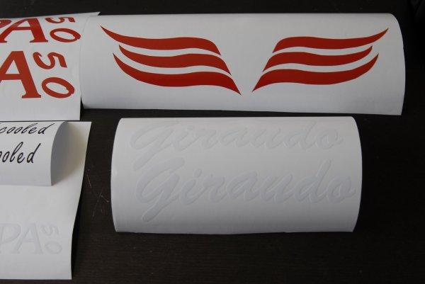 kit autocollant europa 50 giraudo blanche / rouge