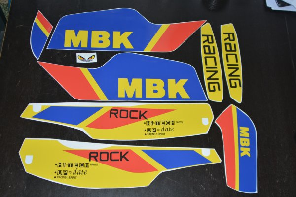 autocollants Mbk rock racing