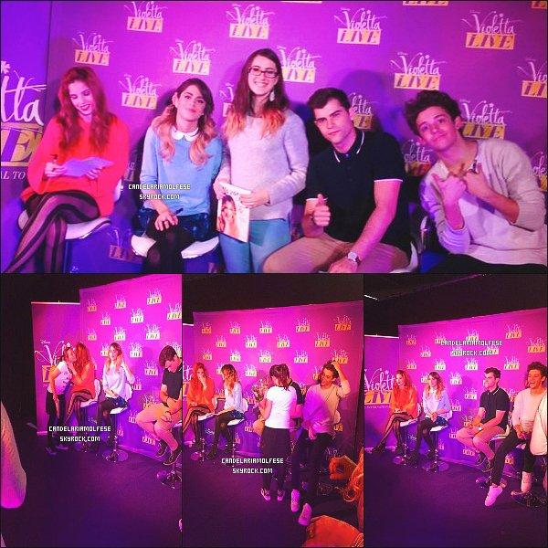 ' •Candelaria & 3 autres membres du cast lors d'un M&G dans la ville de Douai, France.  '