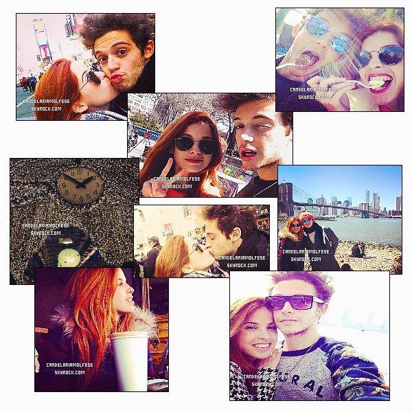 ' •Les photos personnelles postées par Cande lors de son séjour à NewYork avec Rugg. '