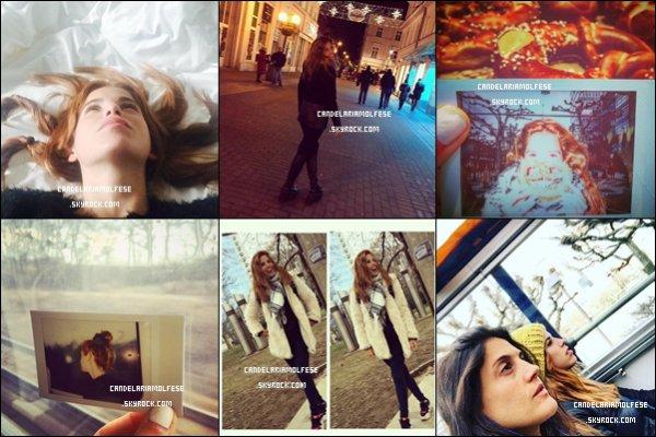 ' •• RESEAUX SOCIAUX Voici les dernières photos postées récemment par la magnifique Candelaria, elle est actuellement en Allemagne avec sa soeur, Constanza Molfese. '