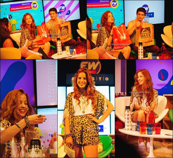 ' 01/11/14 : La magnifique rousse, Candelaria était présente au Fans Worlds En Vivo à Buenos Aires,-Argentine. Elle était en compagnie de Facundo Gambande, son meilleur ami. Je suis totalement amoureuse de sa tenue; elle lui va super bien, c'est un TOP. '