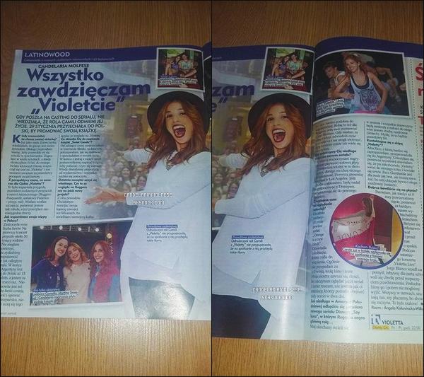' • Candelaria Molfese dans un magazine polonais '