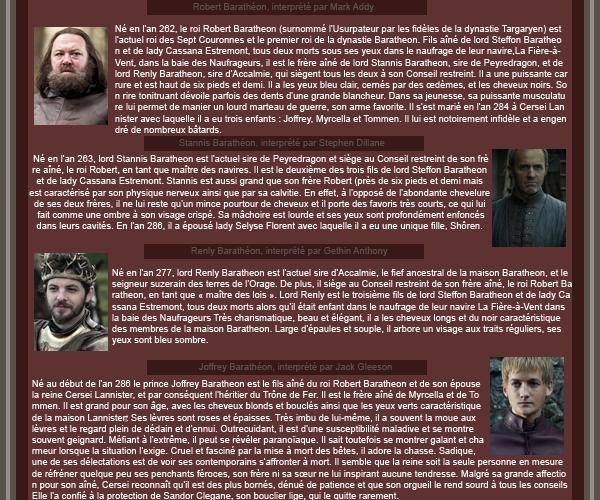 ► Famille Barathéon ᘚ sur FiireAndBlood.skyrock.com>> Clique ici pour voir la déco non décalée <<
