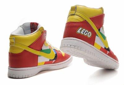 the latest d3cbb 6e2f8 Nike Dunks High Lego Toys Colors Pattern Red Yellow, Nike Dunks High Lego  Toys
