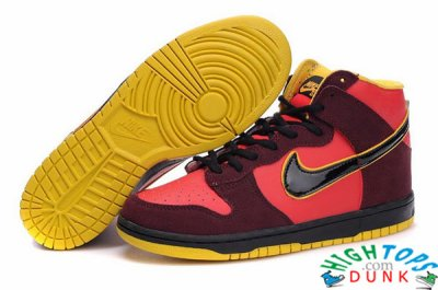 Custom Iron Man Nike Dunks High Tops Sneakers fashion