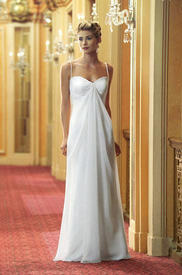 make sure that the wedding gowns you select fit your wedding theme