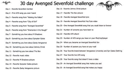 Challenge !! Avenged Sevenfold