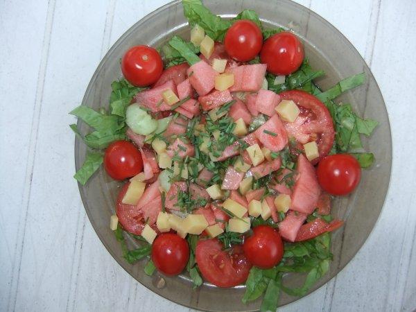 Pour Jocelyne. Et oui, encore !!! Et tous les gourmets. Soirée Salades.