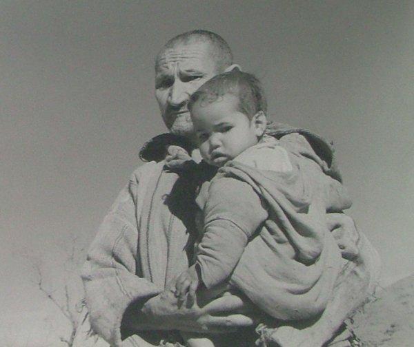 2007 Le vieil homme et l'enfant - Pastel : c'est le titre de mon tableau!