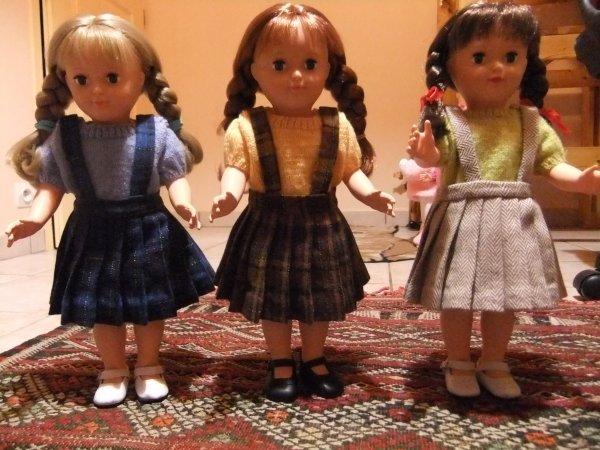 Les petites jupes plissées d'Août 1951.