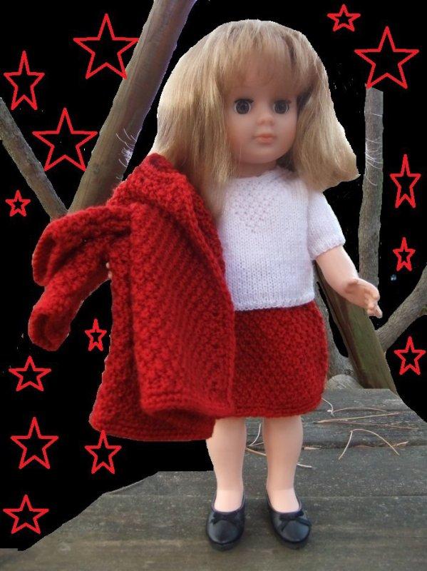 Des photos de mes poupées retouchées par Marie-Joëlle en guise de cartes de voeux!