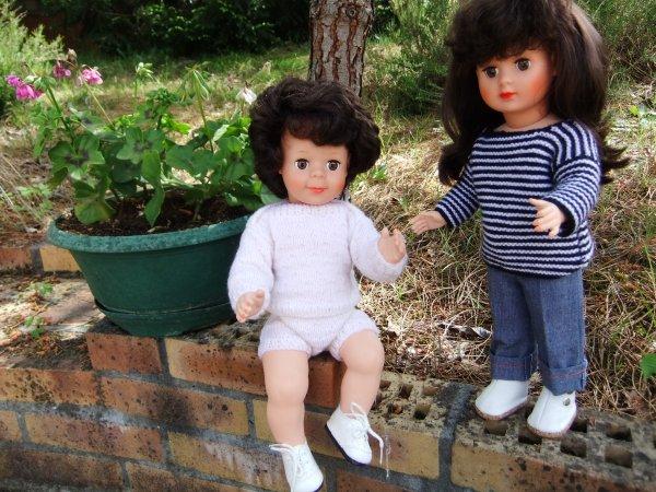 Marie-Françoise et Jean-Michel profitent d'un rayon de soleil!