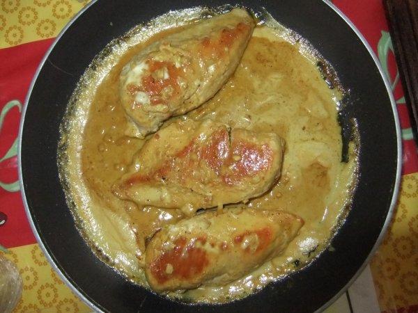 Ce soir: escalopes au curry, huuuuuum!