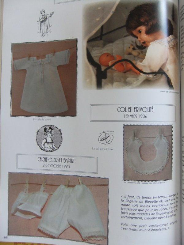 Quelques photos du livre sur le trousseau de Bleuette: suite!