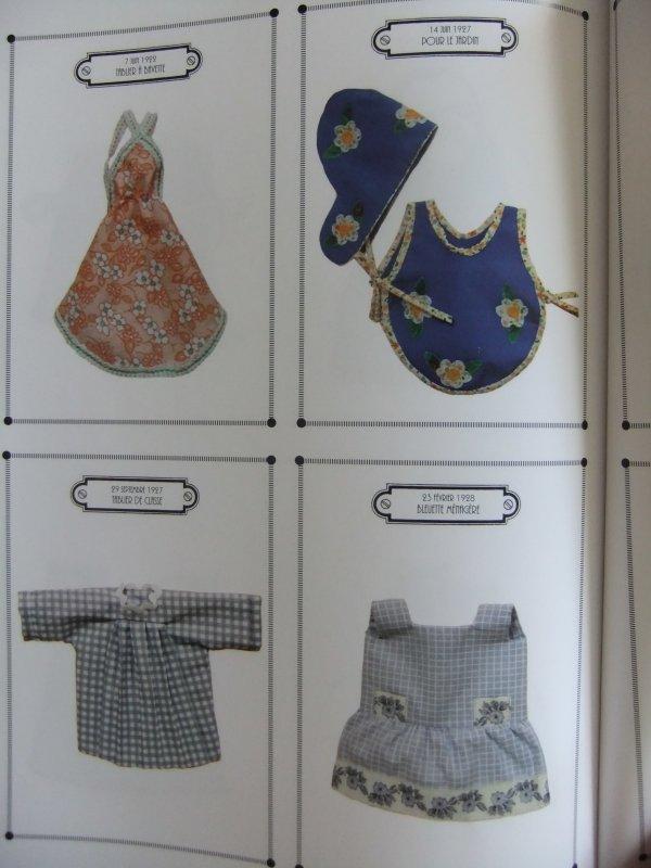 Quelques photos du livre sur le trousseau de Bleuette: les tabliers!