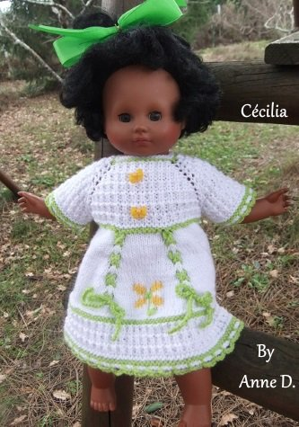Une robe printanière pour Céciia!