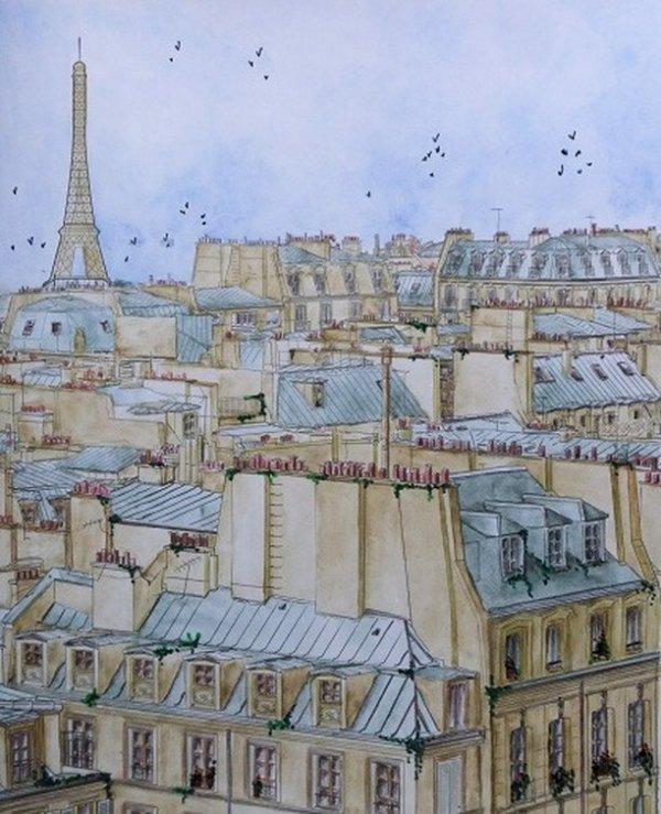 Paris, à l'aquarelle!