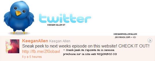 KEEGAN ET TWITTER ▬  @KeeganAllen à twitter le jeudi seize juin.   14 JUIN 2011 ▬ Troian Bellisario à parlé à propos de la relation entre Spencer et Toby.