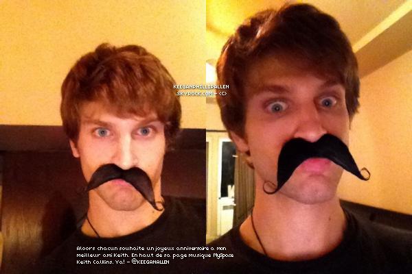 KEEGAN ET TWITTER ▬  @KeeganAllen à twitter et poster deux photos le jeudi vingt-trois juin.