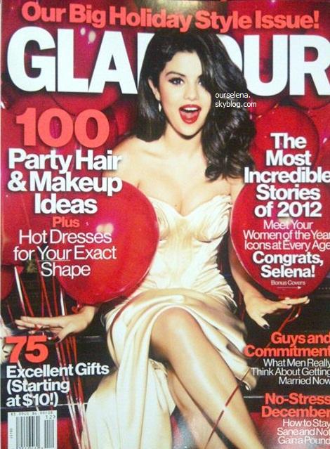 """• Selena a fait la couverture du magazine """"Glamour Us"""""""