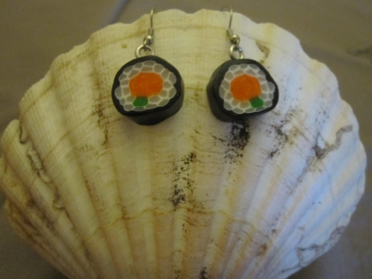 Boucles d'oreilles Sushi et Makis !