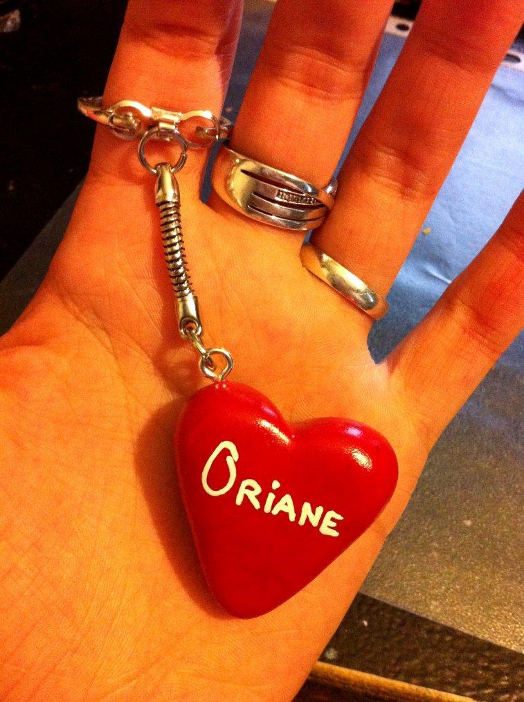 Porte clés Coeur personnalisable