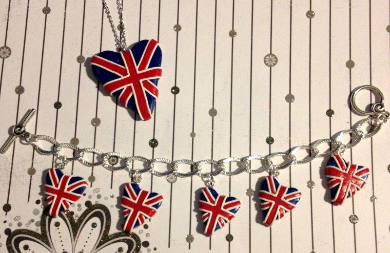 Parure London avec Bracelet Breloque