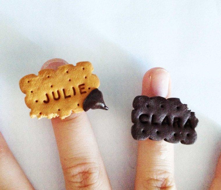 Bagues biscuits personnalisables !! Tailles enfants disponibles :) 4 euros seulement :)
