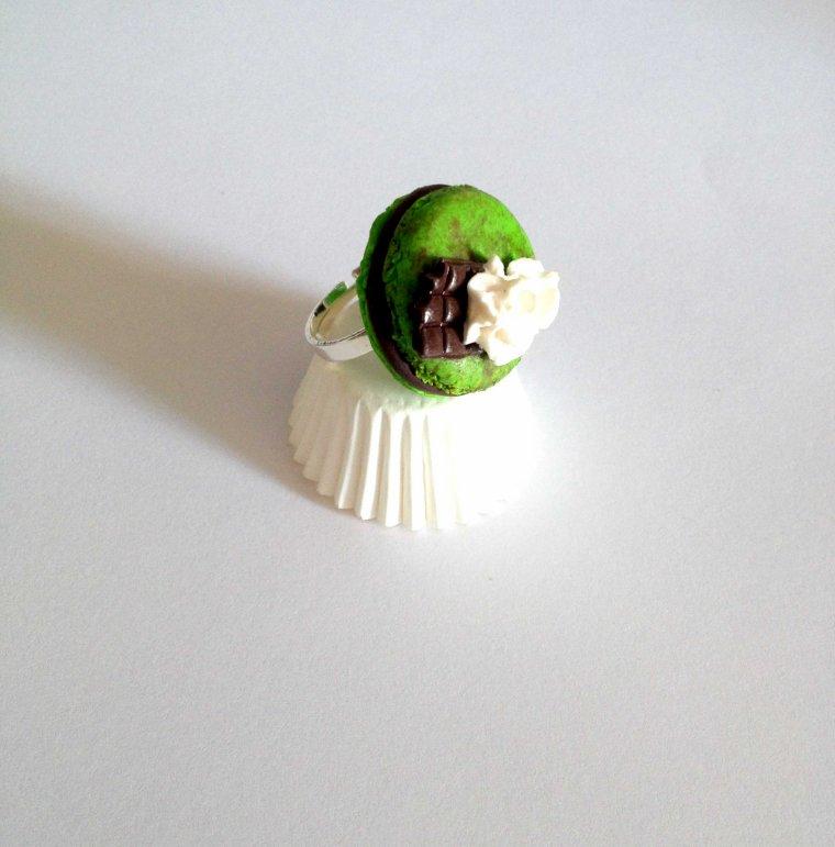 Mon macaron choco pistache !