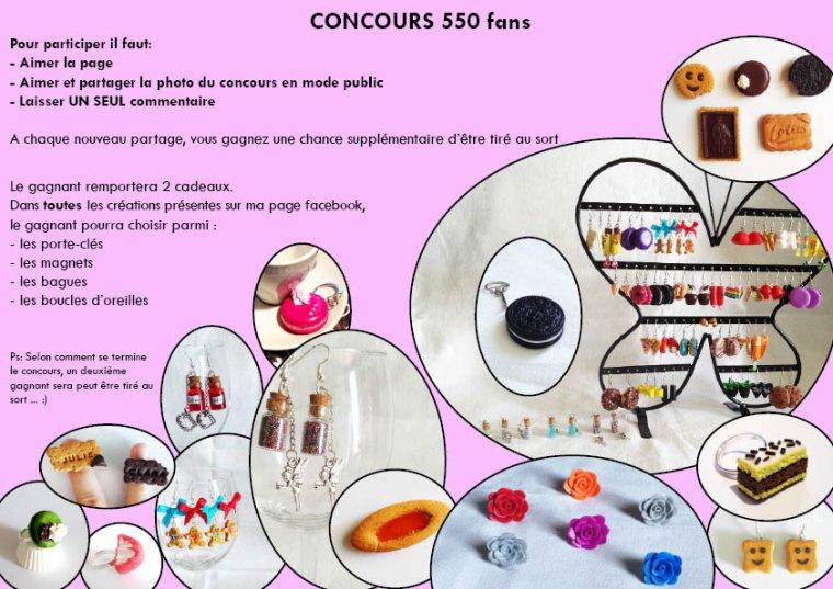CONCOURS 550 Fans sur FACEBOOK