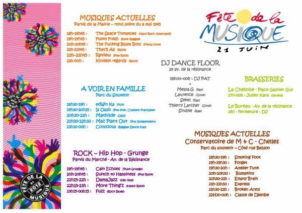 flyer fête de la musique Chelles