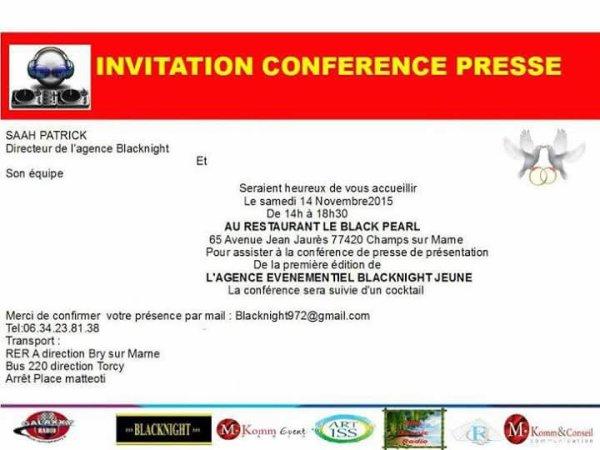 conférence de presse de l'agence événementielle blacknight