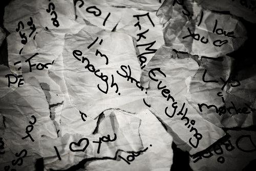 Paper, you are my life and I'm your pencil.