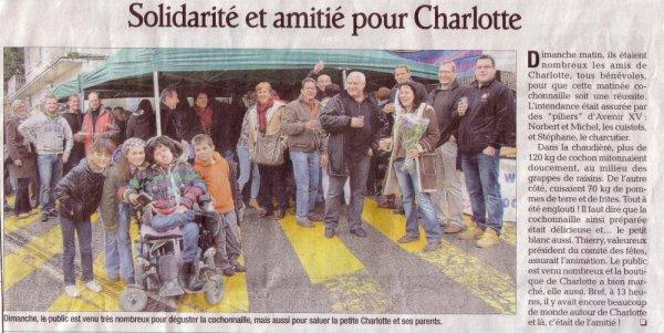 DIAPORAMA et PRESSE de la Matinée CHARLOTTE au SUCRE  du dimanche 18 novembre 2012 !