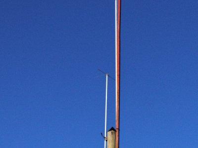 haut de la verticale full-size 40m  avec son chapeau capacitif !