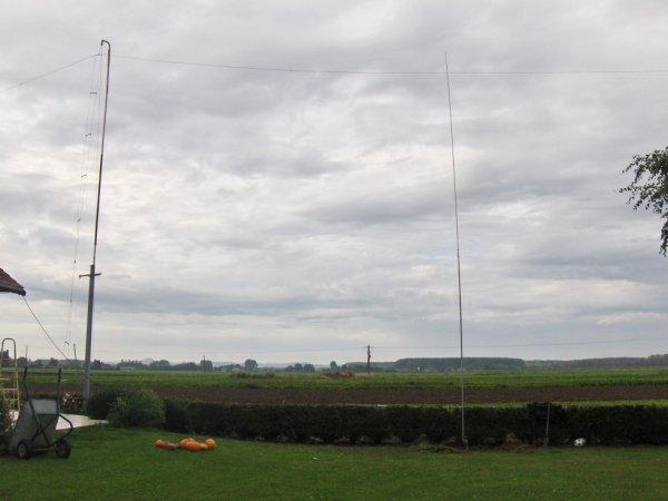 l antenne verticale  pour le 40m