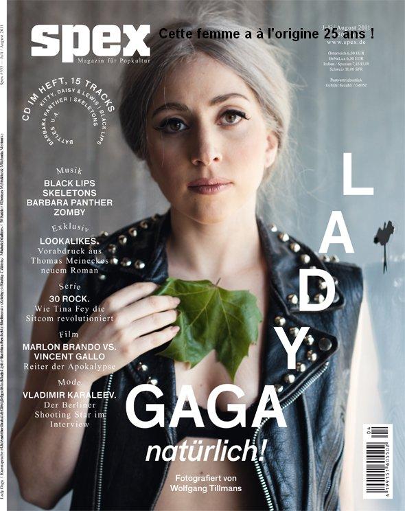 Lady Gaga alléger de maquillage sur un magasine ! Et voilà comment on prend 20 ans dans la gueule !