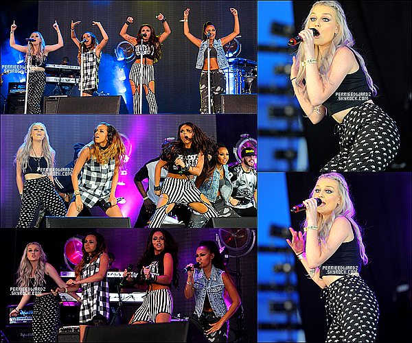 12/07/13 : Perrie et les filles étaient présente sur la scène du Wireless Festival à Londres.    Elles ont performé sur les chansons : How Ya Doin? - DNA - Superbass - Wings et Change Your Life.