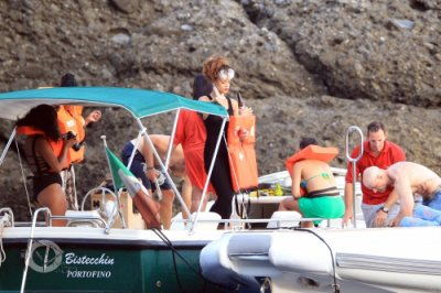 24 Août 2011 Rihanna rejoint la côte de Portofino en Italie