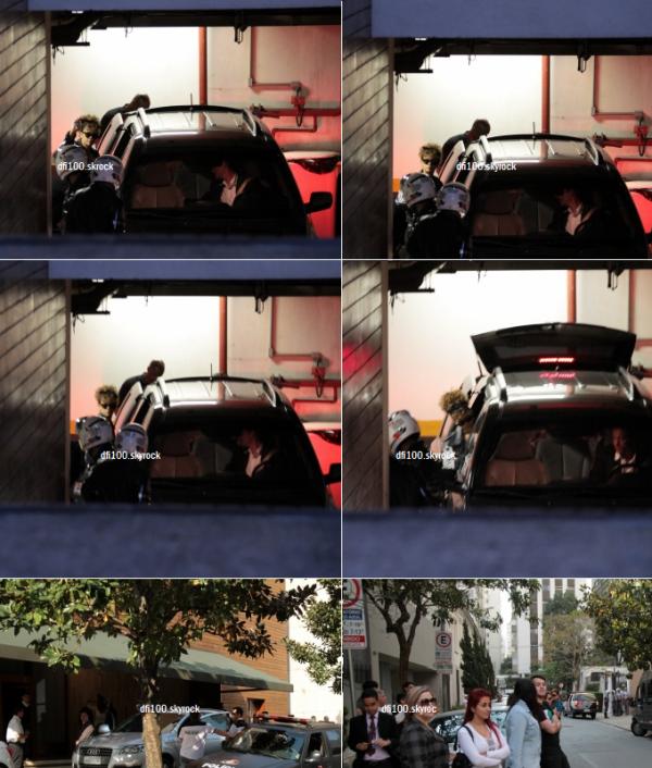 17/09/11  Rihanna quitte son hôtel à Sao Paulo