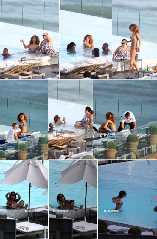 20/09/11  Rihanna aperçue à la piscine de son hôtel à Rio de Janeiro