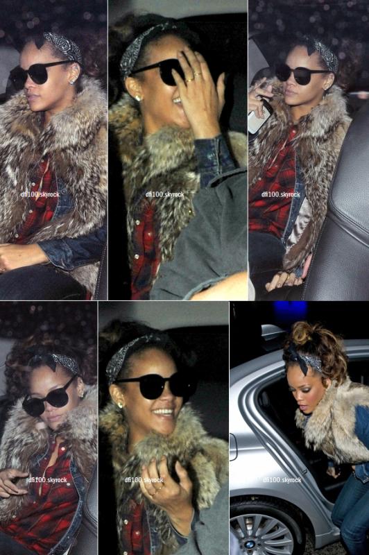 06/10/11 Rihanna au club « Mahiki » à Londres