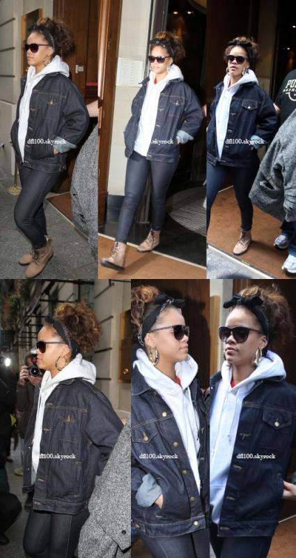 19/10/11 Rihanna quitte son hôtel à Paris