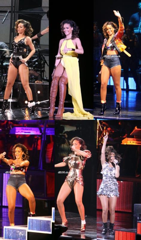 21/10/11  Rihanna en concert a Paris