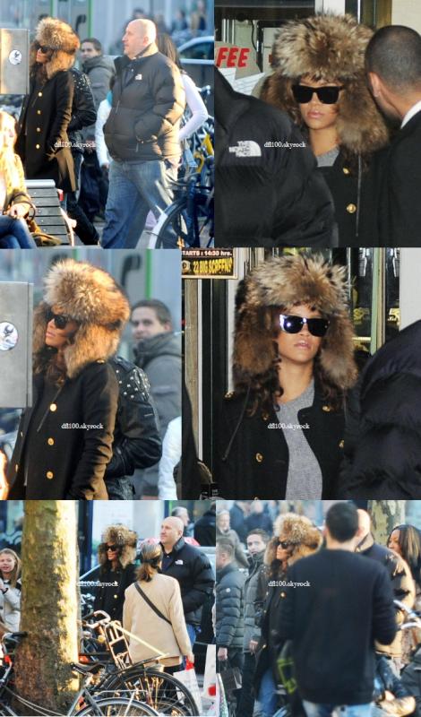 23/10/11 Rihanna dans un café à Amsterdam