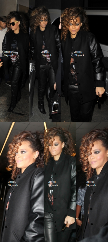 Le 13/11/11   Rihanna arrive au club « Whisky Mist » à Londres